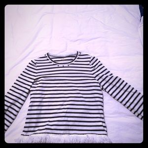 Kate Spade NWOT striped 3/4 sleeve .